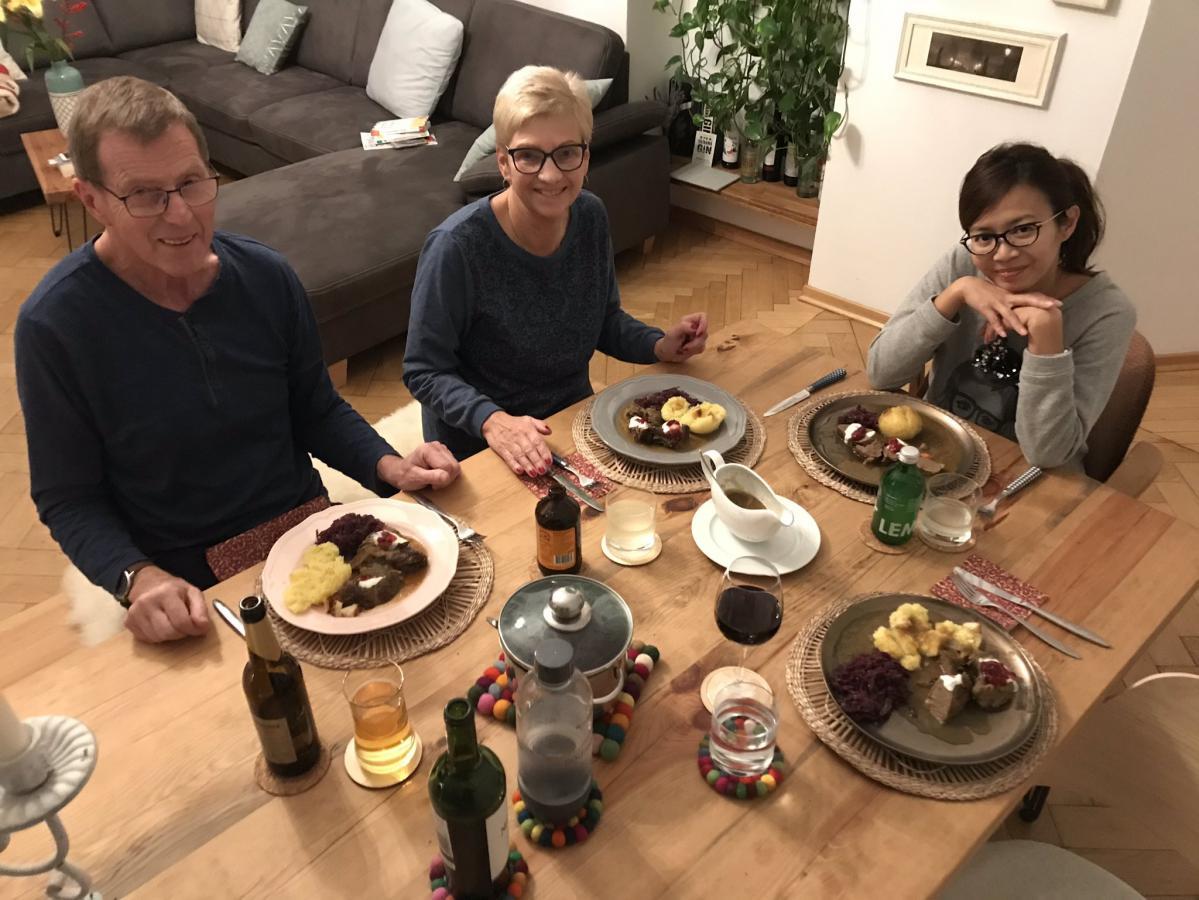Besuch der Essen selber kocht - ich liebe es! ;)