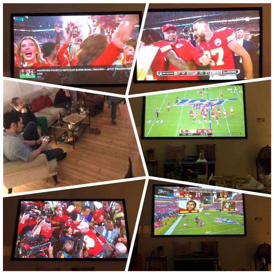 Super Bowl bei den Nachbarn - Chiefs beat the 49ers, jetzt Bettchen!