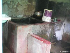 WC und Bad von Innen (Dusche und Boiler)