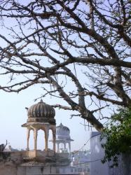Blick auf die Tempelanlagen