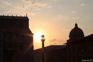 der Dom zu Pisa im Sonnenuntergang - den gab´s zum Glück kostenlos