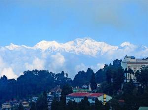 Winter vorm Balkon. Der kalte Kuss des Kangchenjunga.