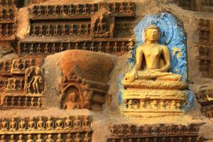 Liebe zum Detail. Tempelornament im Makrofokus