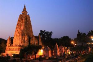 Die Mahabodhi-Templesite. Schuhe aus, Schönheit an