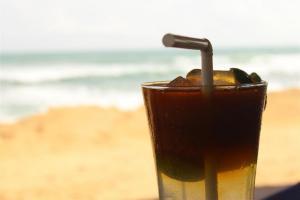Eistee - auch in Ceylon ein Renner.