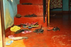 Der gemeine FlipFlop. Auch in Ceylon der domierende Schuh schlechthin.
