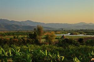 Blick ins Grenzgebiet zu Myanmar