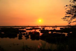 Mekong Sunset nördlich von Kratie