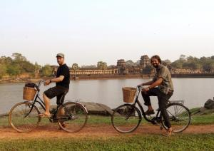 In Angkor sind wir auch als Biker unterwegs